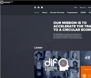 Ellen MacArthur Foundation homepage