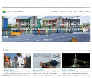 Psot Carbon Institute homepage