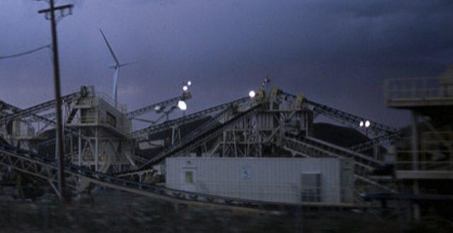 Wind powered coal mine