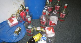 Empty bottles at the end of the night