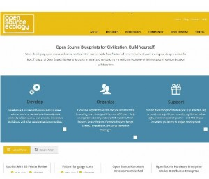 Open Source Ecology homepage