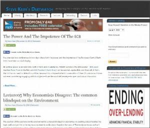 Steve Keen's Debtwatch homepage