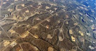 Fracking scars