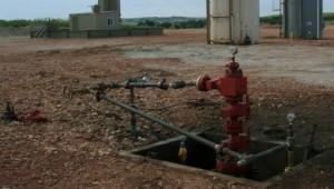 capped fracking well