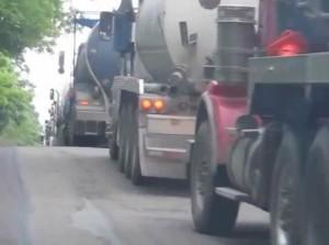 Fracking Lorries