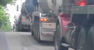 Fracking Lorries