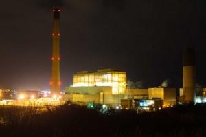 Power Station at night