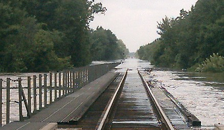 Flooded Railway