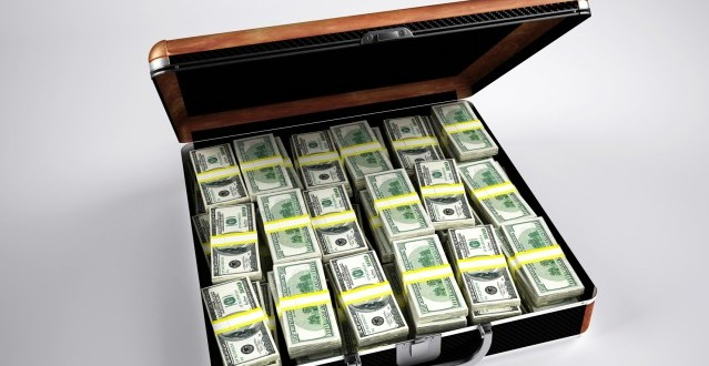Cash in a suitcase