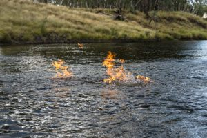 Fire on the Condamine River