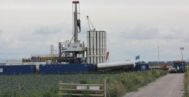 Fracking well