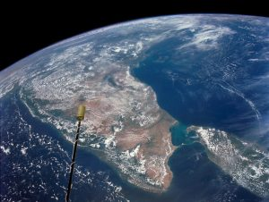 India and Ceylon from space