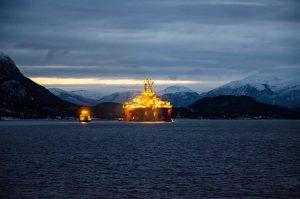 Arctic oil rig