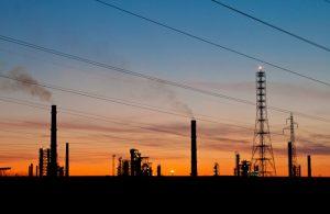 UK oil sunset