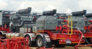Fracking trucks