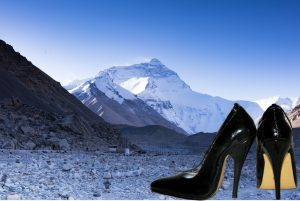 Mountains in heels
