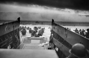 Troops landing on D-Day
